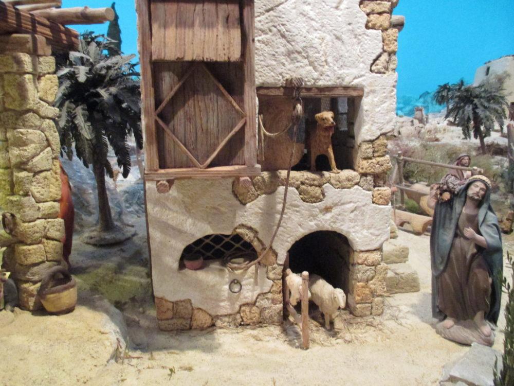 Presepe di Traversagna, - Particolare di casa dei pastori