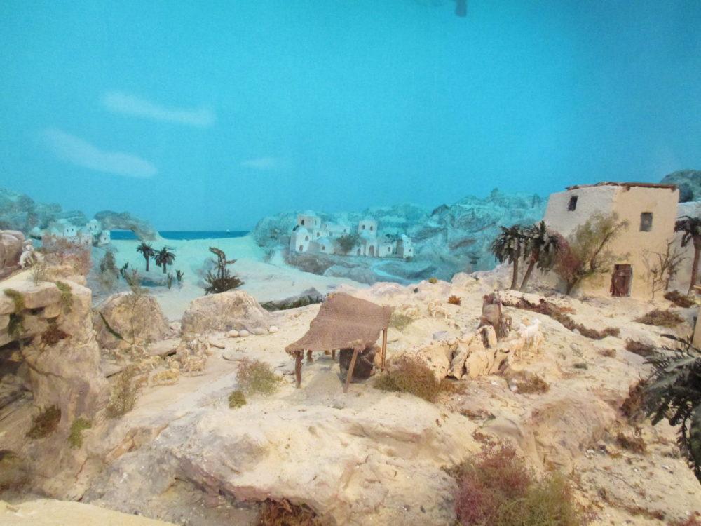 Presepe di Traversagna - Scorcio del paesaggio con il mare