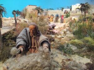 Presepe di Traversagna - Il tosatore di pecore